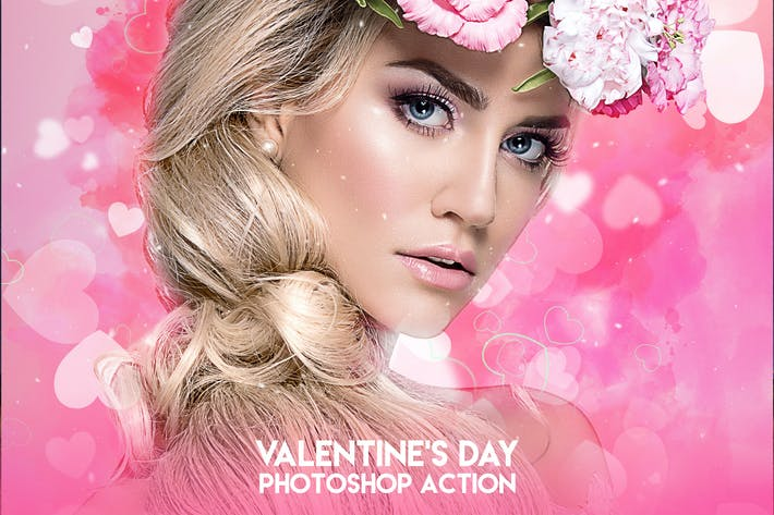 Thumbnail for Valentine's Day Photoshop Action