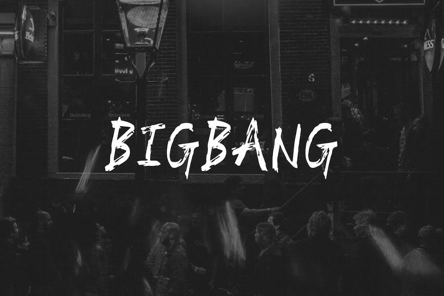 BIGBANG - Handmade Brush Font for Grafitti Display