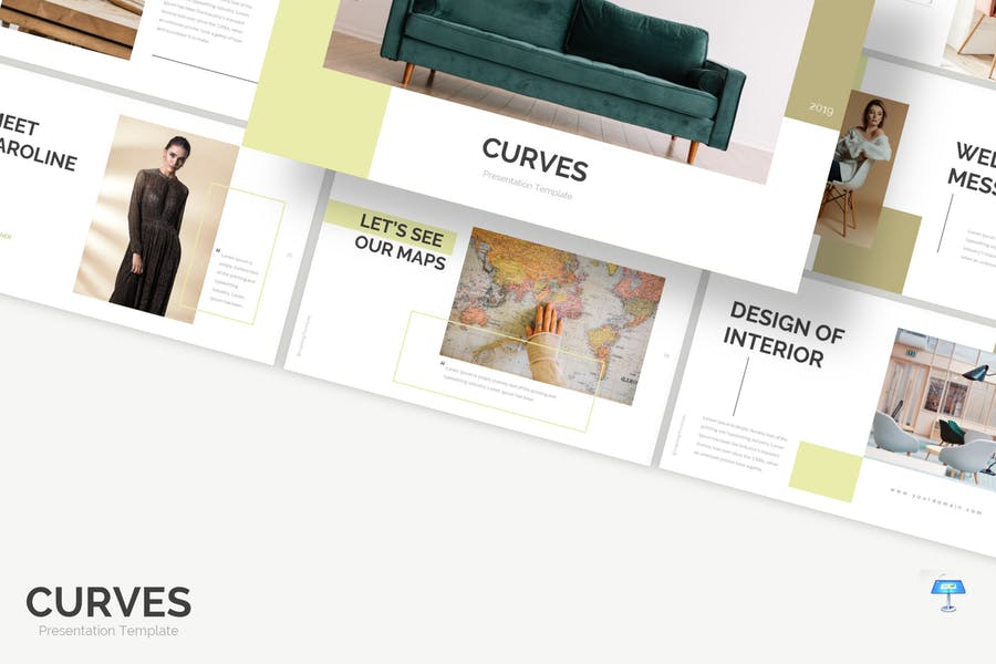 Curves - Keynote Template