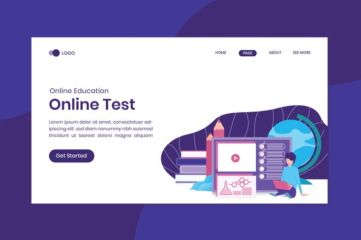 Thumbnail for Online Education Test Landing Page