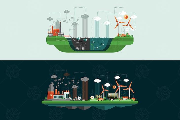 Thumbnail for Écologie - illustrations de paysage