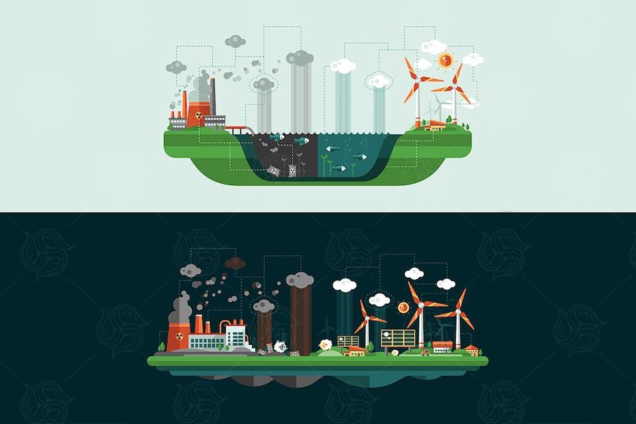 Ecology - Landscape Illustrations