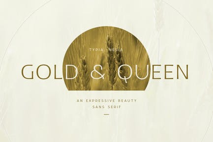 Gold and Queen - Beauty Feminine Branding Font