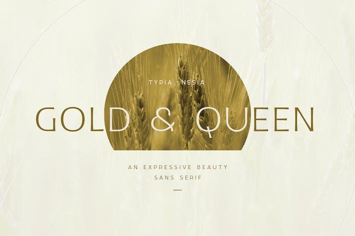 Gold and Queen - Beauty Femenine Branding Font