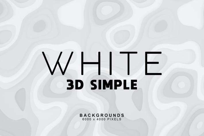 Simple 3D White Backgrounds 1