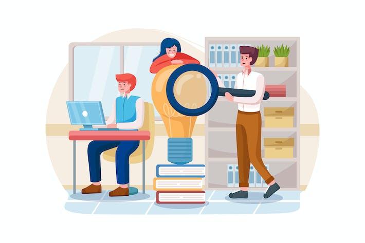 Thumbnail for Team auf der Suche nach neuen Ideenlösungen.