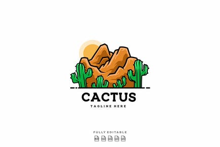Desert Cactus Logo Template