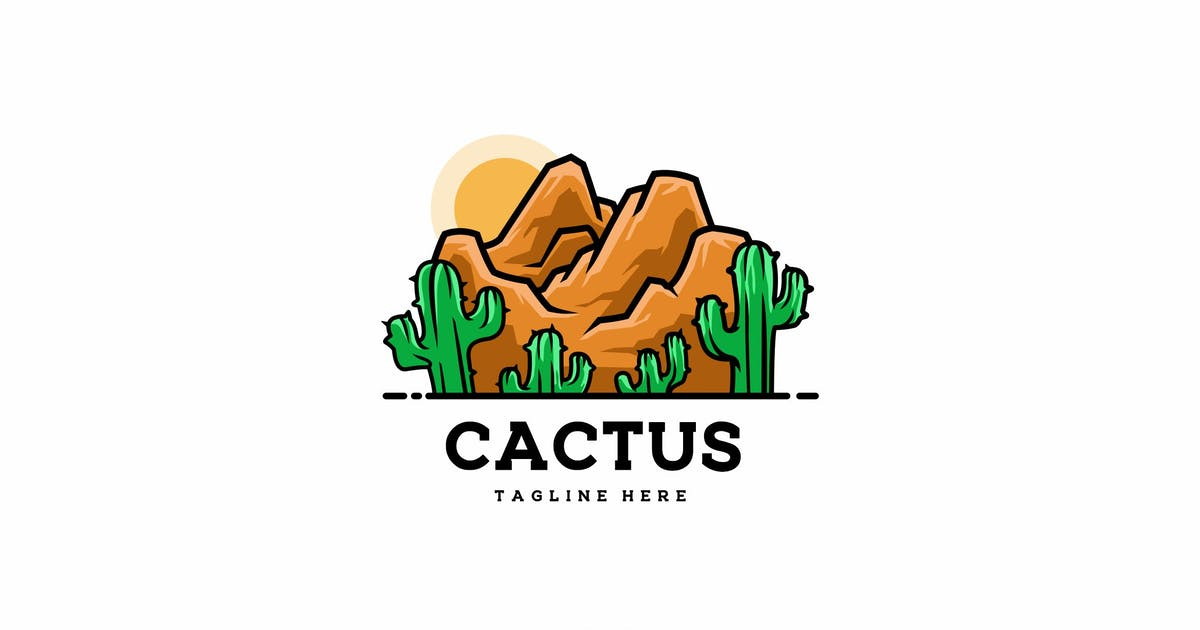 Download Desert Cactus Logo Template by elevencreativee