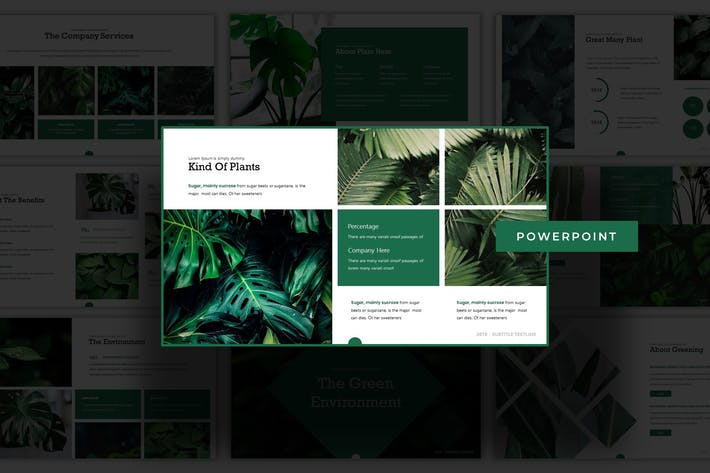 The Green Evnvironment - Powerpoint Template