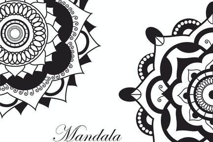 Mandala.Pagan symbol. Schematic representation
