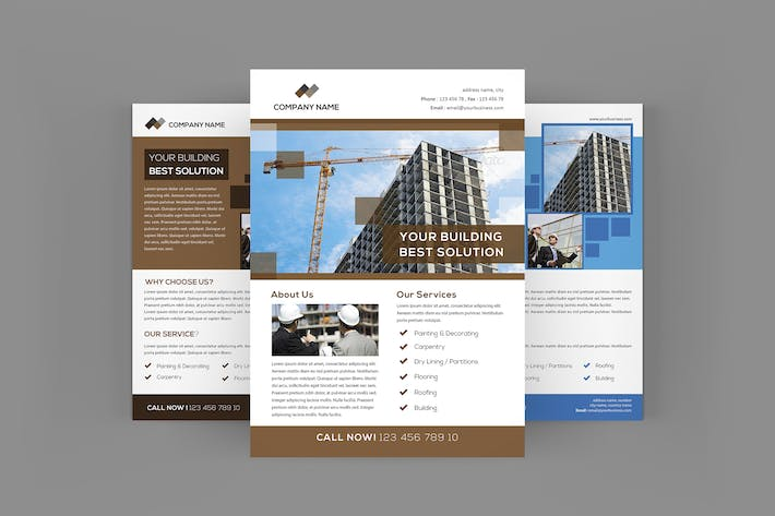 cover image for construction flyers