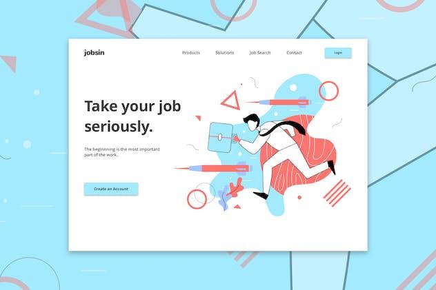 Jobsin - Jobseeker Web Hero Template