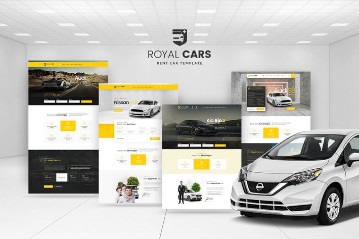 Thumbnail for Royal Cars - Location Car PSD Modèle