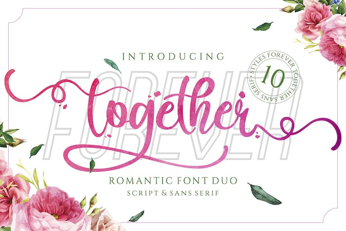 Cover Image For Forever Together - Romantic Font Duo