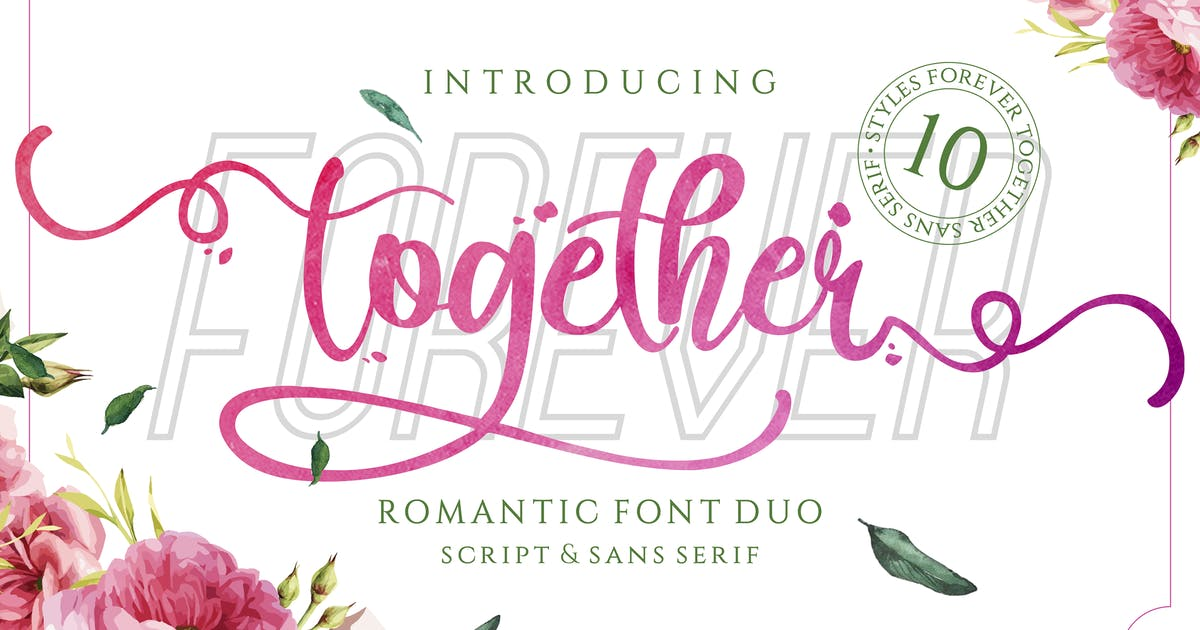 Download Forever Together - Romantic Font Duo by deemakdaksinas
