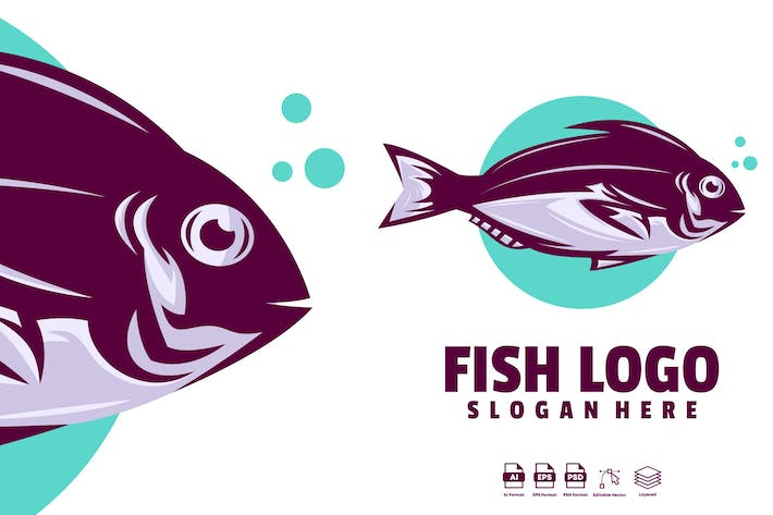Thumbnail for fish logo template
