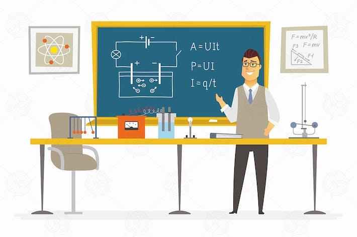 Thumbnail for Physics Classroom - vector illustration