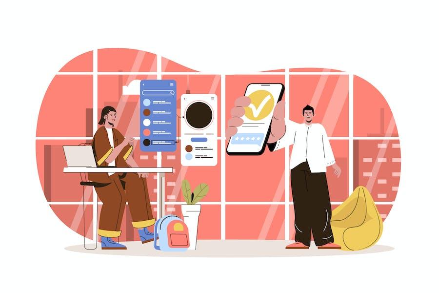 App Development Web Concept