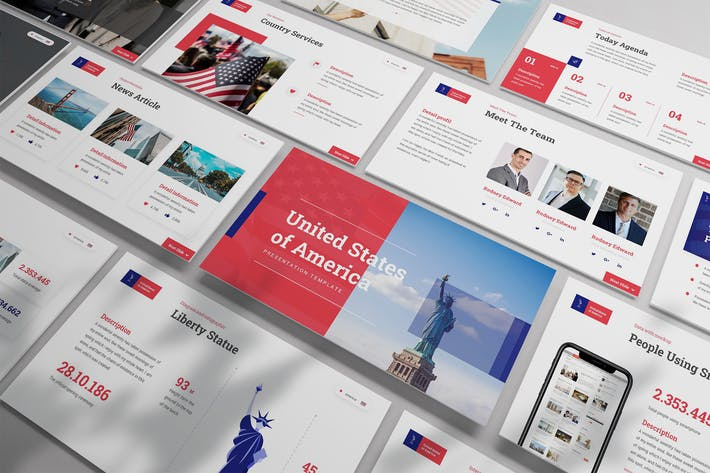Thumbnail for Captain - USA Themes Powerpoint Template