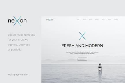NexOn - Plantilla de Muse Creativo de varias páginas