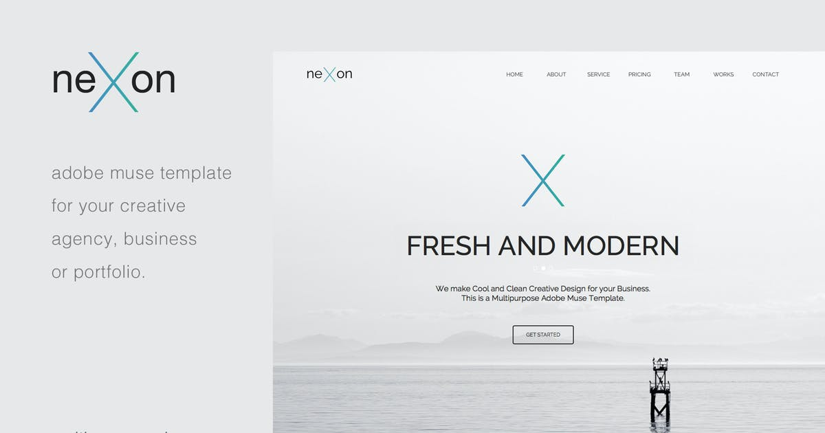 Download NeXon - Multi-Page Creative Muse Template by MuseFrame