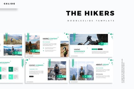 The Hikers - Google Slides Template