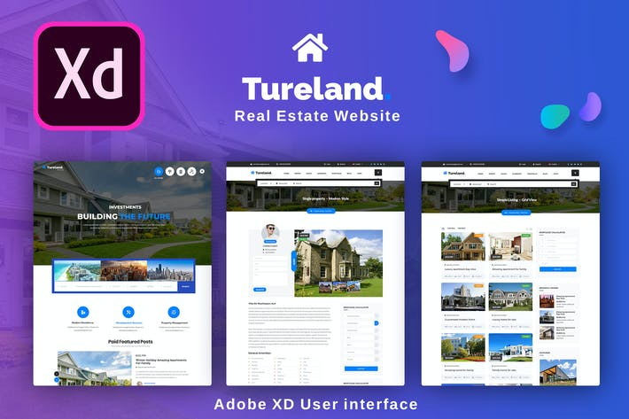 Thumbnail for Best Real Estate Adobe XD Template