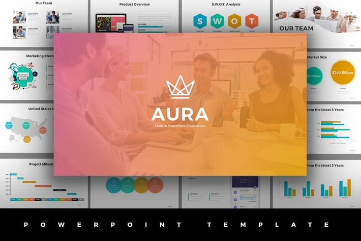 Aura powerpoint template by jetfabrik on envato elements aura powerpoint template toneelgroepblik Gallery