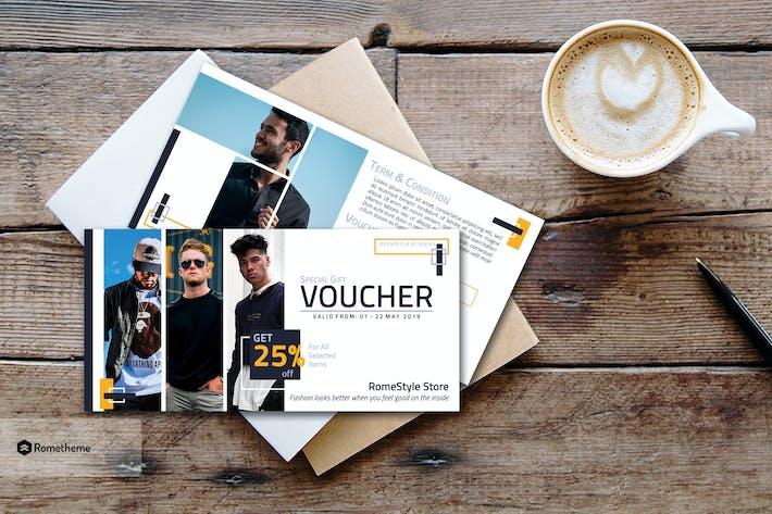 Thumbnail for Fashion Gift Voucher Card vol.03