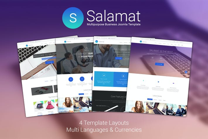 Thumbnail for Salamat - Multipurpose Business Joomla Template