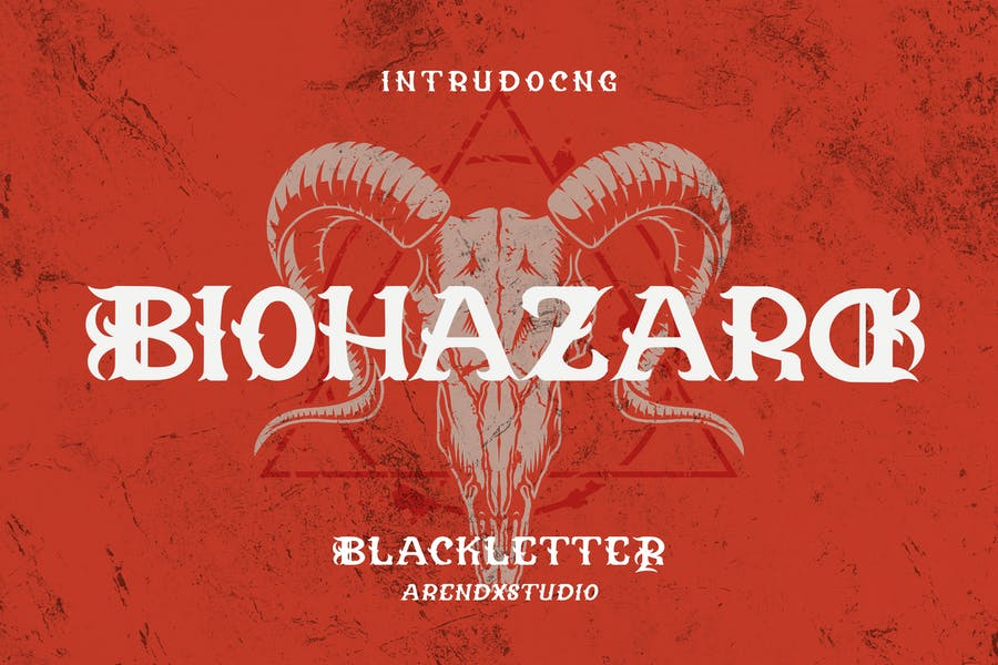 Biohazard - Blackletter Font