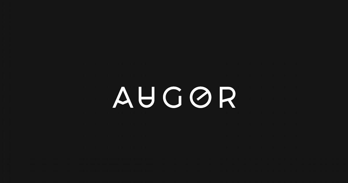 Download AUGOR - Unique Display / Monogram / Logo Typeface by designova