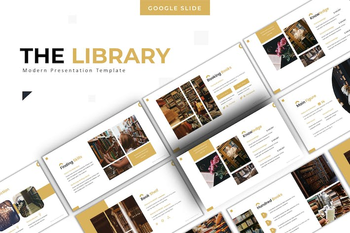 Thumbnail for The Library - Google Slides Template