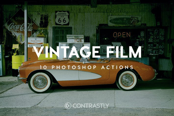 Thumbnail for Vintage Film Photoshop Actions