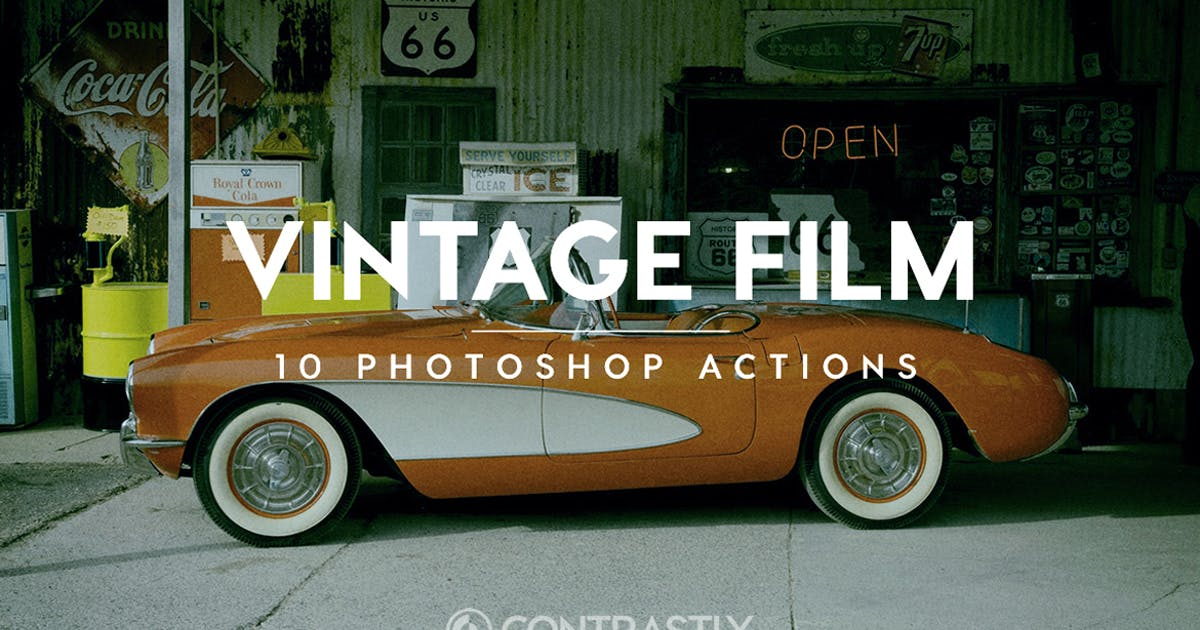 Vintage Film Photoshop Actions by Contrastly