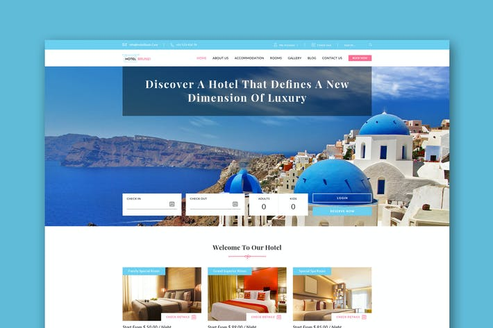 Thumbnail for Hotel Brunei - Hotel Booking PSD Template
