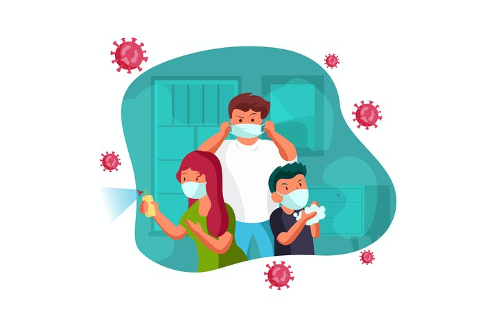 Family protected from the virus vector concept