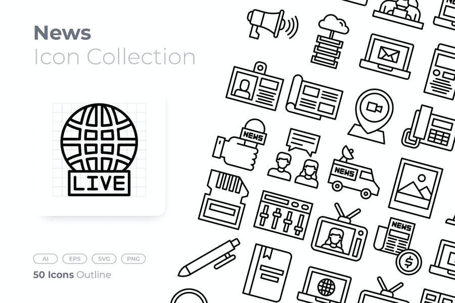 News Outline Icon