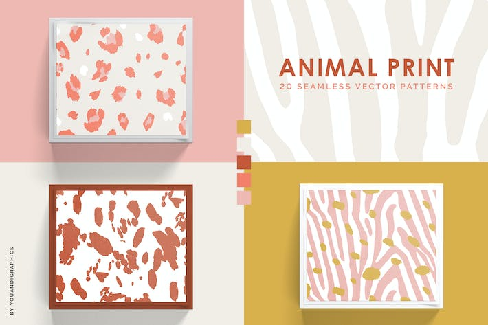 Thumbnail for Animal Print Seamless Patterns