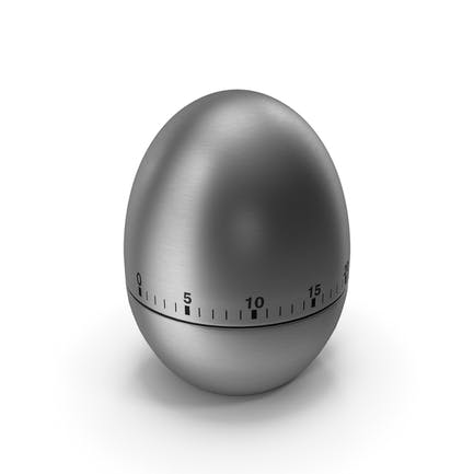 Stainless Steel Egg Shaped Kitchen Timer