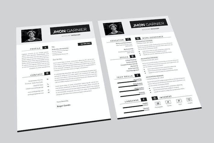Thumbnail for Jhon Account Resume Designer