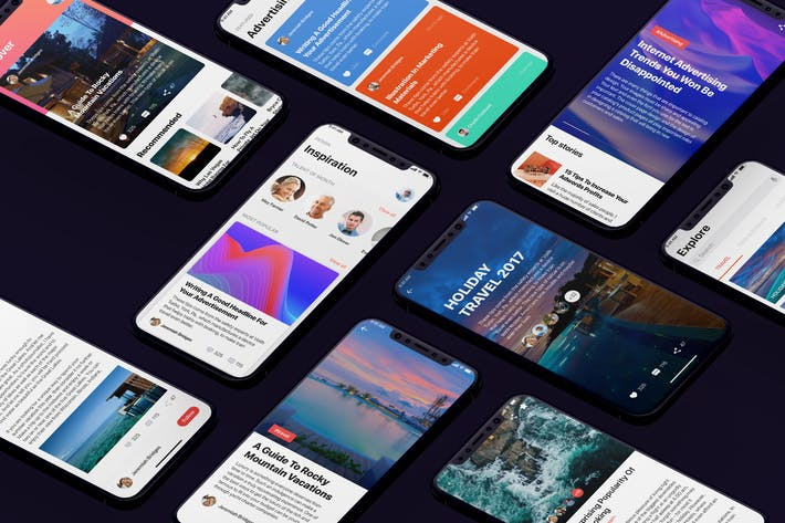 Thumbnail for Social Mobile UI Kit for iphoneX