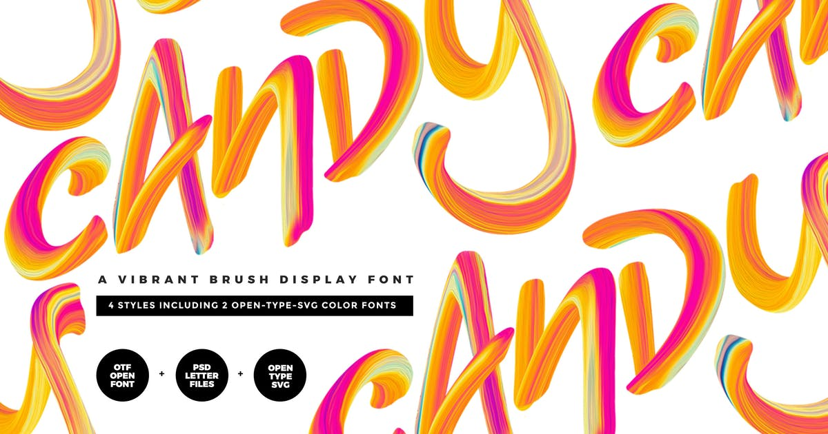 Download Candy Color Font by twinbrush