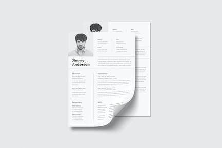 Minimalist & Professional Resume Sanstemp