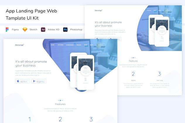 App Landing Page Web Tamplate UI Kit