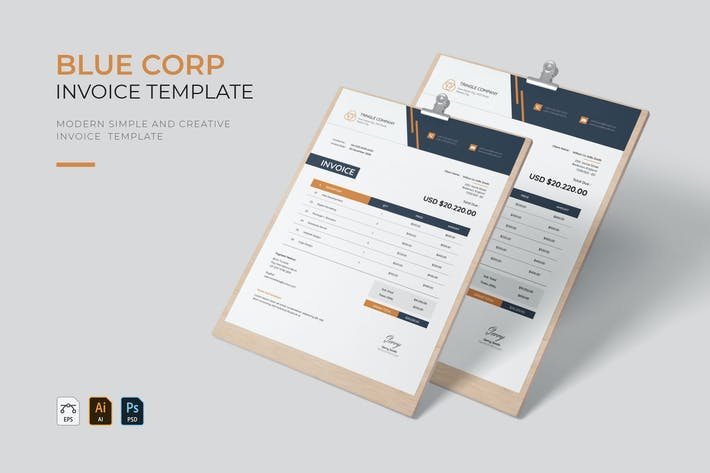 Blue Corp   Invoice