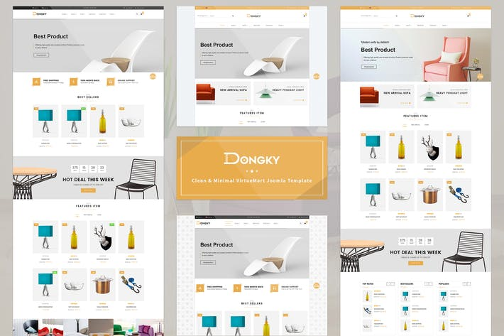 Thumbnail for Vina Dongky - Minimal VirtueMart Joomla Template
