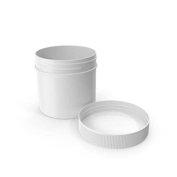 Пластиковая банка широкий рот прямой боковой 2 унции открытой крышкой укладывая белый