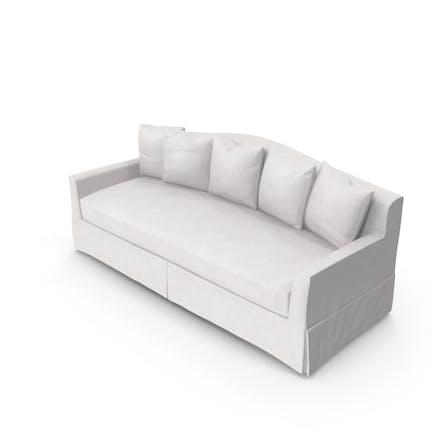 Sofá tradicional de 4 plazas.