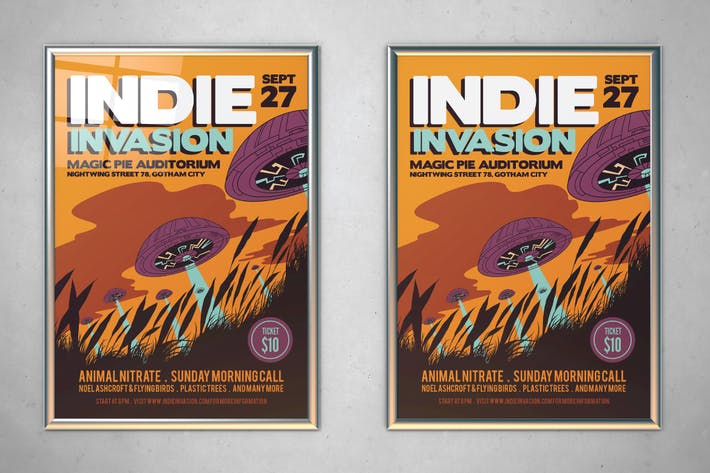 Thumbnail for Indie Invasion Flyer